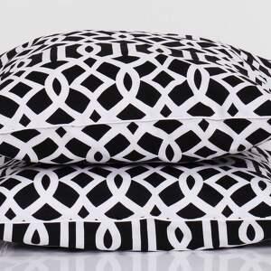 poduszka dekoracyjna poduszki imperial trellis black