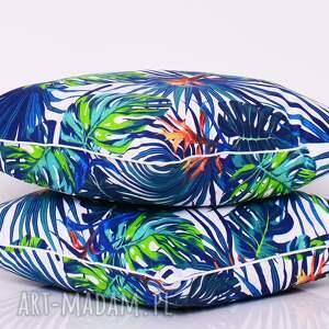 jungle poduszki niebieskie poduszka 40x40cm
