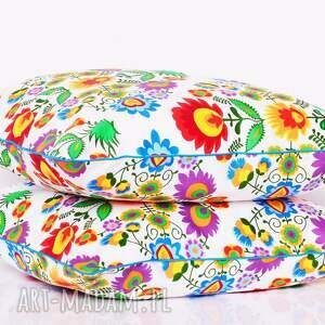 awangardowe poduszki ludowe wzory poduszka kaszubska 50x50cm, folk