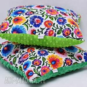 hand made poduszki poduszka łowicka biała