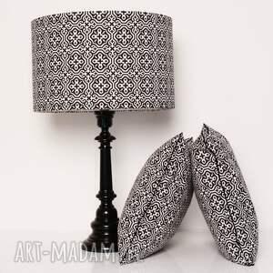 białe poduszki poduszka marrakech black 40x40cm
