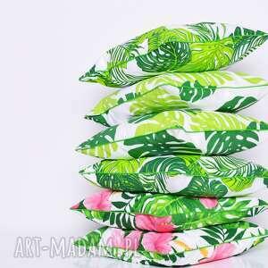 poduszki: poduszka monstera and hibiscus 50x50cm w-liście