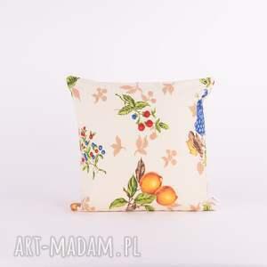 beżowe poduszki poduszka w-owoce owocowy sad 40x40cm