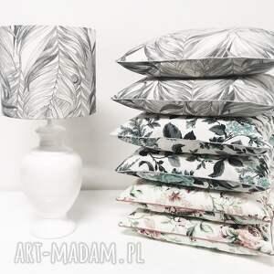 poduszki jak szkic poduszka palm leaves - grey 40x40cm
