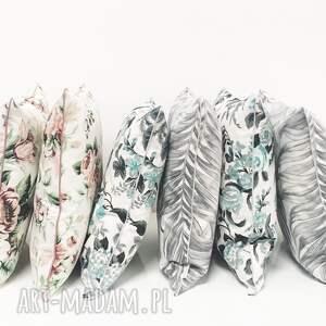 jak szkic poduszki poduszka palm leaves - grey 40x40cm