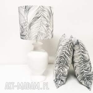 niekonwencjonalne poduszki jak szkic poduszka palm leaves - grey 40x40cm