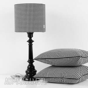 białe poduszki poduszka pepitka black, jasiek