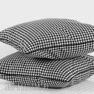 poduszka w-pepitkę poduszki pepitka black, jasiek