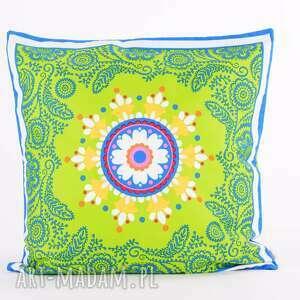 hand made poduszki folk poduszka raz na ludowo - zieleń