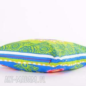 ludowe wzory poduszki poduszka raz na ludowo - zieleń