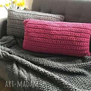 awangardowe poduszki poduszka ręcznie dziergana 60 x