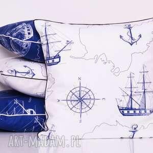 marynarska poduszki poszewka uszyta z bawełny, zapinana na zamek