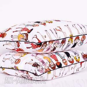 białe poduszki poduszka dziecięca stylish girls 40x40cm