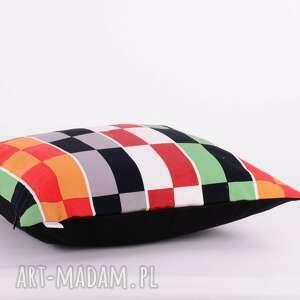 majunto poduszki: Poduszka w kolorowe prostokąty 40x40cm od ozdobna