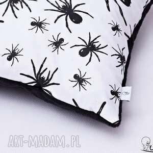 hand made poduszki poduszka w-pająki w pająki czarna