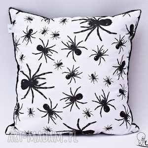 hand made poduszki pająki poduszka w czarna
