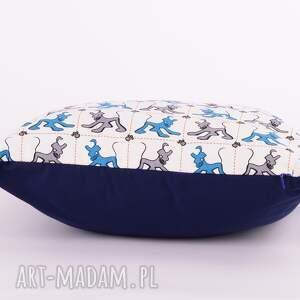 Poduszka w pieski 40x40cm od majunto - dziecięca w-pieski