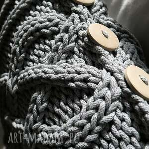 Poduszka w warkocze 45 x 45 cm - bawełna