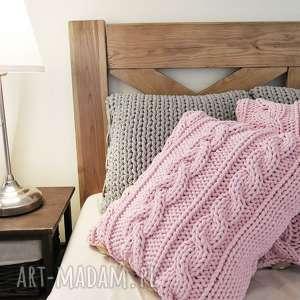 różowe poduszki sznurek poduszka w warkocze 45 x cm
