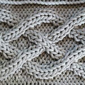 poduszki ze-sznurka poduszka w warkocze 45 x cm