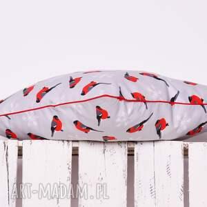 pomysły na prezenty pod choinkę święta poduszka xmas red bird 40x40cm