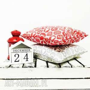 na święta prezent poduszka xmas thema - red 40x40cm