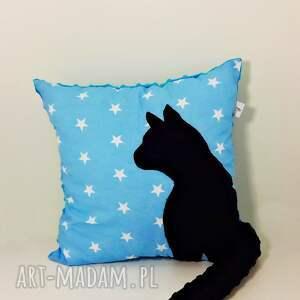 hand made poduszki poduszka z-kotem z kotem i ogonem 3d czarny