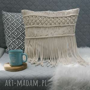 w4design poduszki: poduszka z makramą - makrama