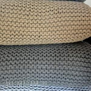 hand made poduszka ze sznurka bawełnianego