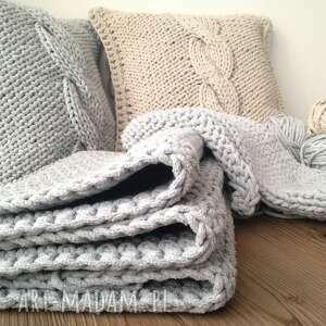 sznurek poduszki beżowe poduszka ze sznurka