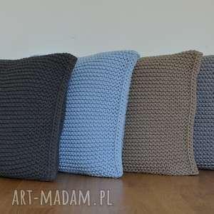 szare poduszki poduszka ze sznurka bawełnianego