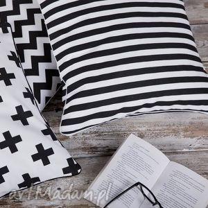 czarno poduszki poszewka na poduszkę b&w - 5 wzorów do wyboru