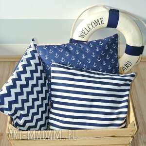 niebieskie poduszki poduszka poszewka na poduszkę w stylu marine