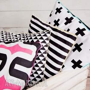 hand-made poduszki poduszka poszewka na poduszkę trójkąty
