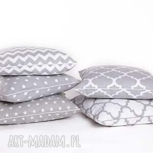 handmade poduszki poduszka poszewka na poduszkę szara - 5