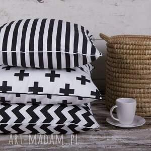 białe poduszki poduszka poszewka na poduszkę b&w - 5 wzorów do wyboru