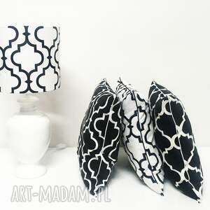poduszki poduszka koniczyna fresh black white new
