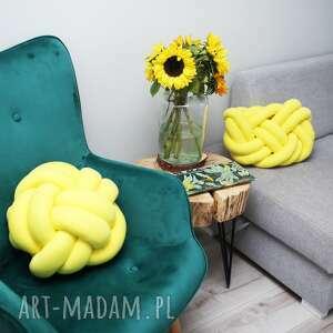 unikatowe poduszki knot pillow ręcznie pleciona dekoracyjna