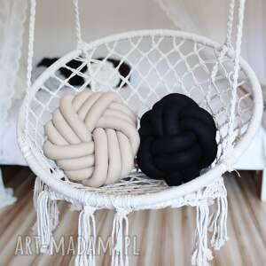 poduszki knot cushion ręcznie pleciona dekoracyjna