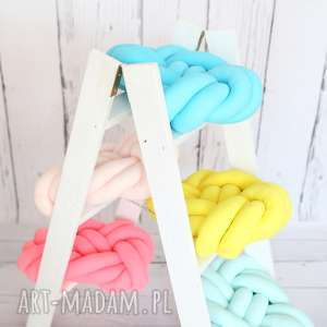 poduszki knot pillow ręcznie pleciona dekoracyjna