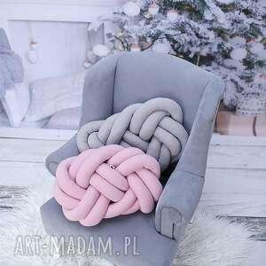 poduszki knot-pillow ręcznie pleciona dekoracyjna