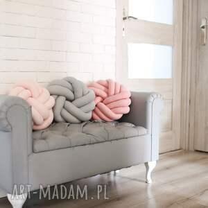 unikalne poduszki knot cushion ręcznie pleciona dekoracyjna
