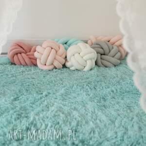 knot cushion ręcznie pleciona dekoracyjna
