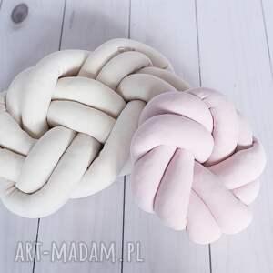 handmade poduszki poduszka-supeł ręcznie pleciona dekoracyjna