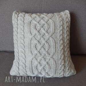 wyjątkowe poduszki poduszka szara warkoczowa