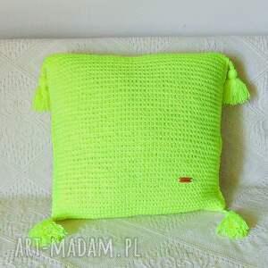 poszewka poduszki żółta neonowa