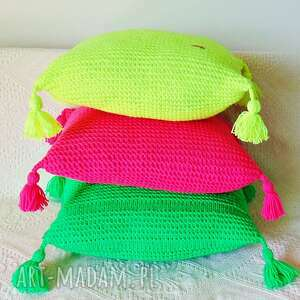 poduszki poduszka żółta neonowa