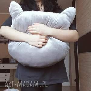 główka pokoik dziecka aksamitna poduszka kocia