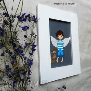 anioł pokoik dziecka niebieskie stróz chłopiec