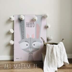 różowe pokoik dziecka plakat autorski w stylu
